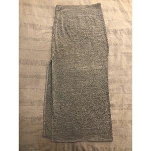 Aritzia Wilfred Free Shields long skirt gray XS